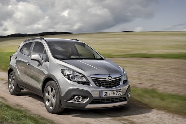 Opel Mokka Spain November 2014. Picture courtesy of largus.fr