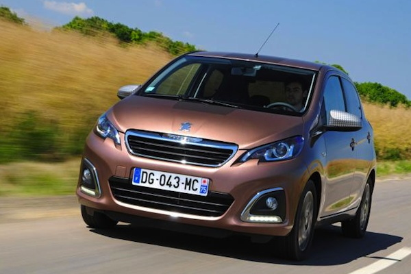 Peugeot 108 Netherlands January 2015. Picture courtesy of autoexpress.co.uk