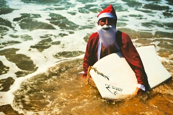 Surfing Santa Picture courtesy Charlie Fisher