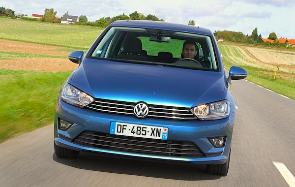 VW Golf Sportsvan Germany June 2015. Picture courtesy of largus.fr