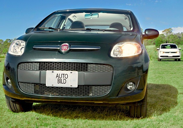Fiat Palio VW Gol Brazil 2014. Picture courtesy of autobild.com.mx