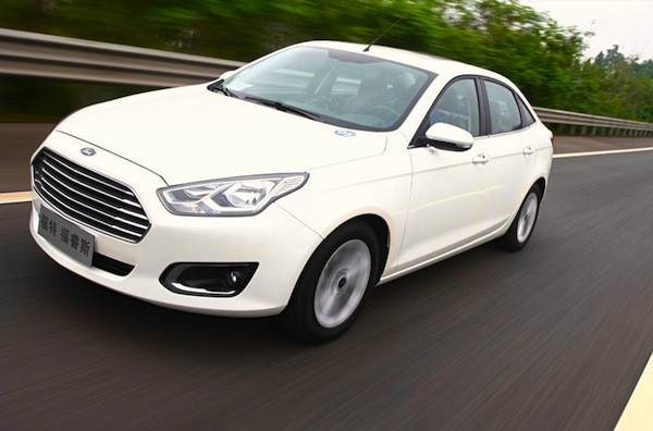 Ford Escort China December 2014. Picture courtesy of auto.sohu.com