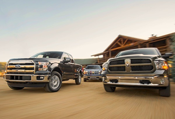 Ford F-150 Chevy Silverado Ram USA 2014. Picture courtesy of motortrend.com