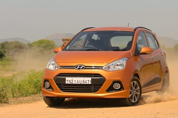 Hyundai Grand i10 India 2014. Picture courtesy of motorbeam.com