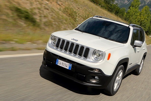 Jeep Renegade Europe December 2014. Picture courtesy of largus.fr