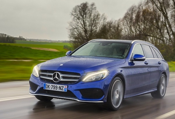 Mercedes C-Class France February 2015. Picture courtesy of largus.fr