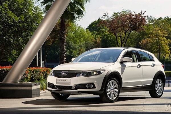 Qoros 3 SUV China December 2014. Picture courtesy auto.sohu.com