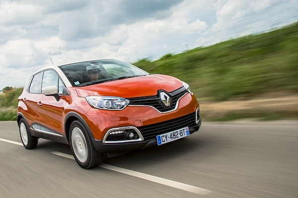 Renault Captur Demark April 2015. Picture courtesy of largus.fr