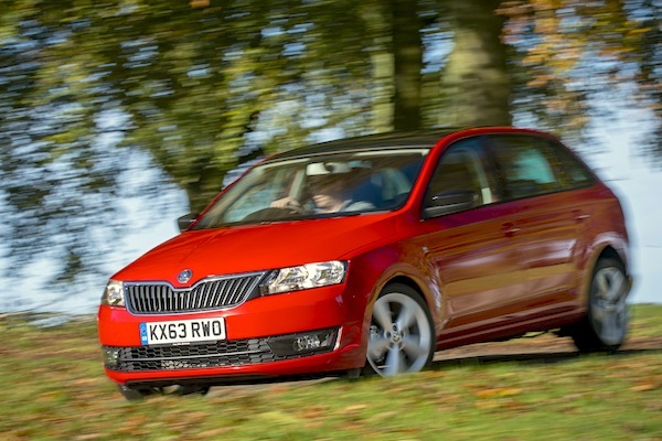 Skoda Rapid Greece January 2015. Picture courtesy autoexpress.co.uk