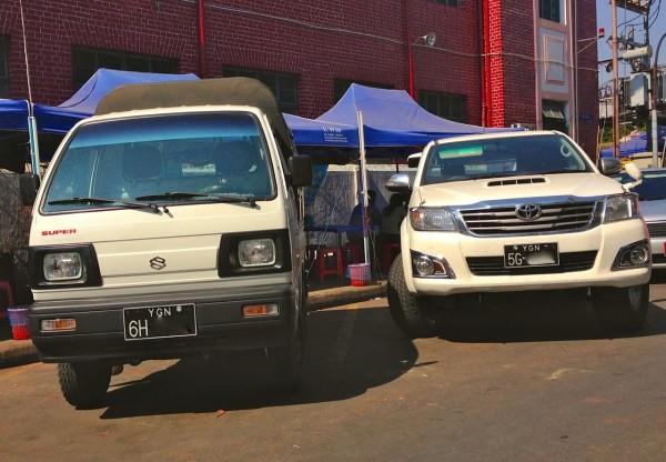 Suzuki Super Carry Toyota Hilux Yangon