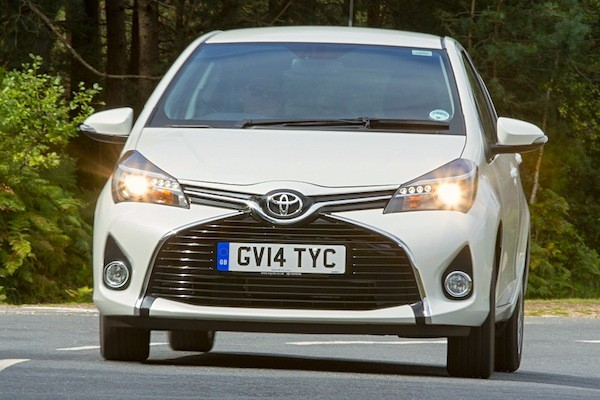 Toyota Yaris Europe November 2014