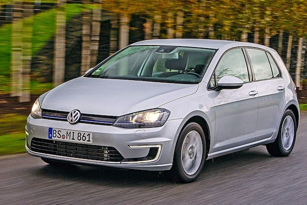 VW Golf Switzerland April 2015. Picture courtesy of autobild.de