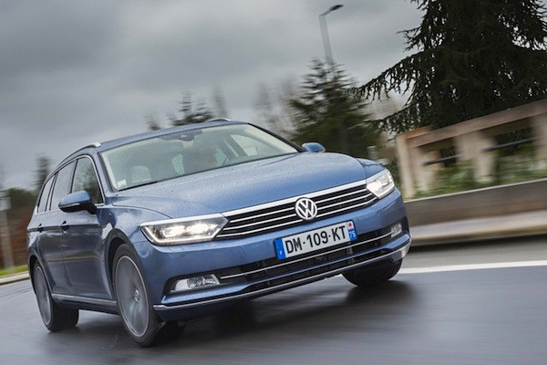 VW Passat Switzerland April 2015. Picture courtesy of largus.fr