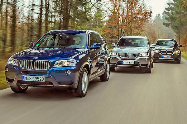 BMW X3 Switzerland January 2015. Picture courtesy autobild.de
