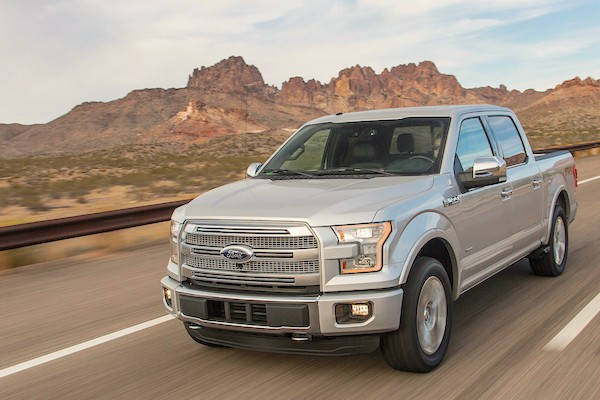 Ford F-150 USA September 2015. Picture courtesy motortrend.com