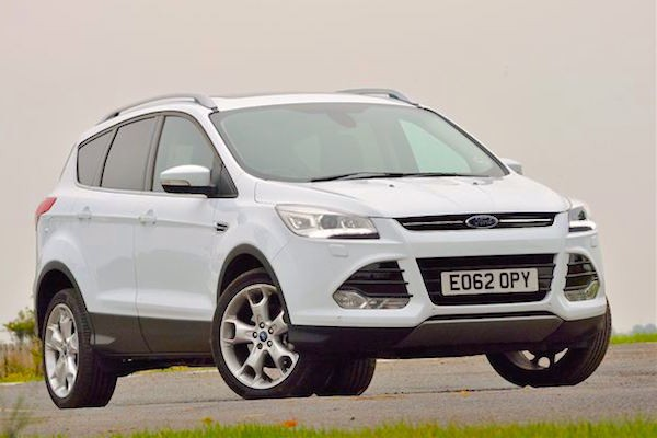 Ford Kuga UK January 2015. Picture courtesy honestjohn.co.uk