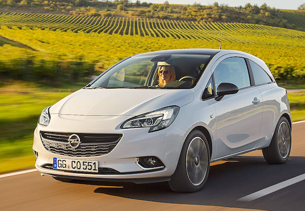 Opel Corsa Austria January 2015. Picture courtesy autobild.de