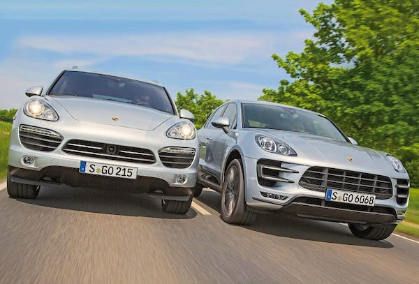 Porsche Cayenne Macan Russia March 2015