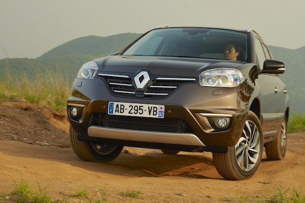 Renault Koleos France January 2015. Picture courtesy largus.fr