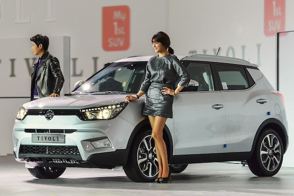 Ssangyong Tivoli South Korea January 2015. Picture courtesy bobaedream.co.kr