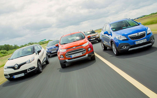 Compact SUV Europe January 2015. Picture courtesy autobild.de
