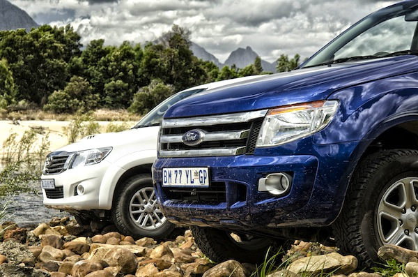 Toyota Hilux Ford Ranger South Africa February 2015. Picture courtesy topcar.co.za