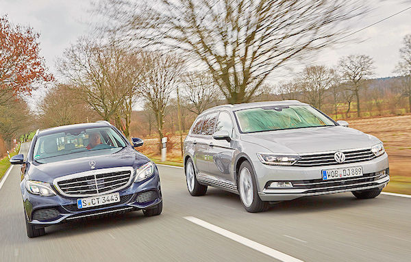 Mercedes C Class VW Passat Europe January 2015. Picture courtesy autobild.de