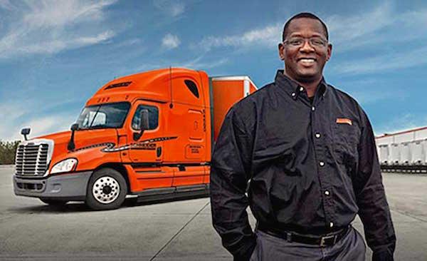 Black truck driver