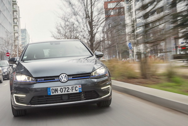 VW Golf GTE Norway February 2015. Picture courtesy largus.fr