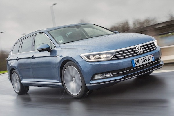 VW Passat Germany March 2015. Picture courtesy largus.fr