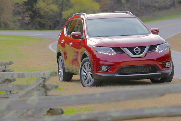 Nissan Rogue USA August 2015. Picture courtesy caranddriver.com