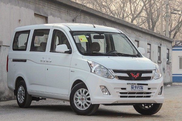 Wuling Hongguang V China March 2015. Picture courtesy xcar.com.cn