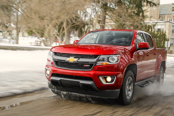Chevrolet Colorado USA April 2015. Picture courtesy motortrend.com