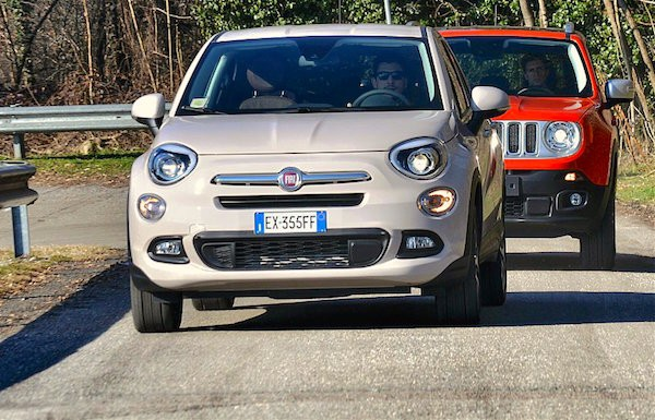 Fiat 500X Jeep Renegade Italy March 2015. Picture courtesy motorbox.com