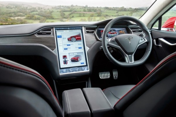 Tesla Model S interior. Picture courtesy themotorreport.com.au