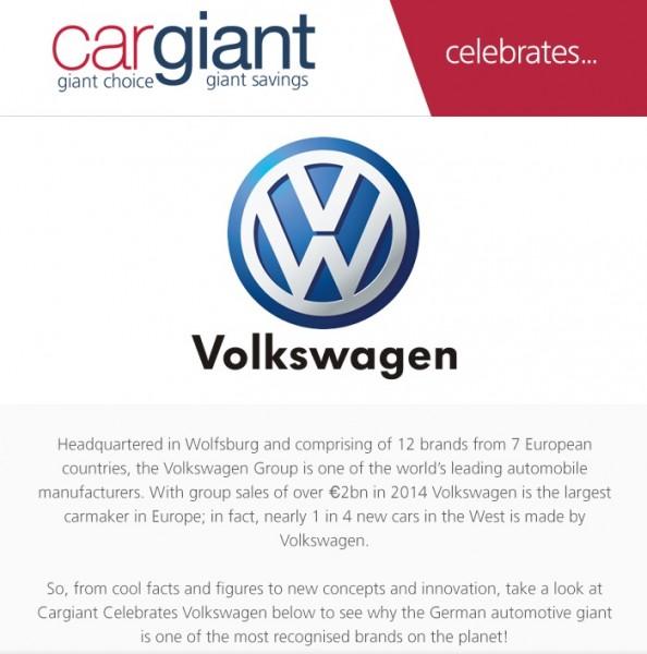 Cargiant celebrates Volkswagen