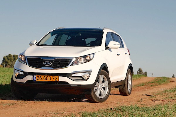 Kia Sportage Israel May 2015. Picture courtesy cartube.co.il