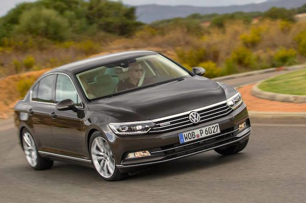 VW Passat Europe June 2015. Picture courtesy caranddriver.com