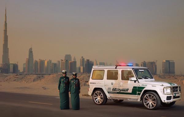 Brabus B63S 700 Widestar Dubai Police Car