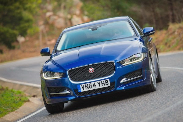 Jaguar XE Spain July 2015. Picture courtesy largus.fr