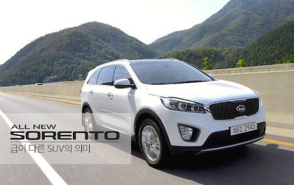 Kia Sorento South Korea June 2015. Picture courtesy bobaedream.co.kr