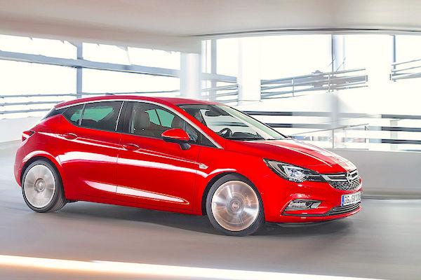 Opel Astra Europe May 2015. Picture courtesy autobild.de