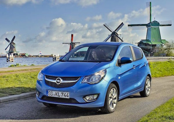 Opel Karl Netherlands August 2015. Picture courtesy largus.fr