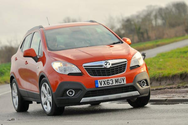 Vauxhall Mokka UK August 2015. Picture courtesy whatcar.co.uk