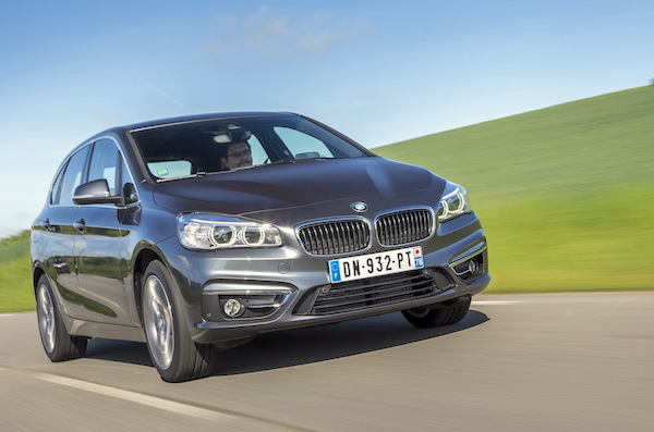 BMW 2 Series Active Tourer Europe July 2015. Picture courtesy largus.fr