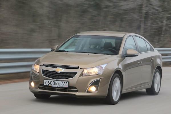 Chevrolet Cruze Russia July 2015. Picture courtesy zr.ru