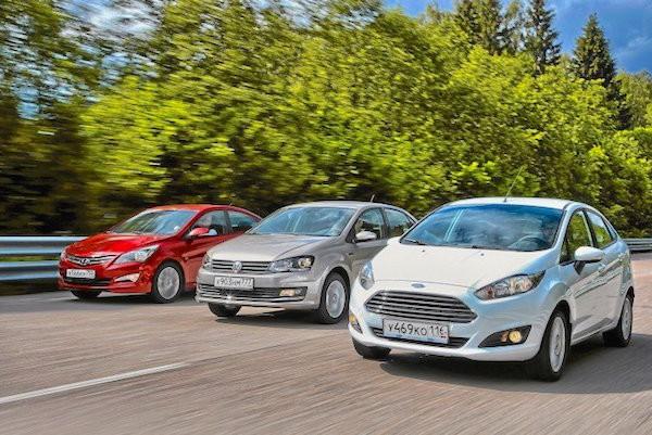 Ford Fiesta Russia July 2015. Picture courtesy zr.ru