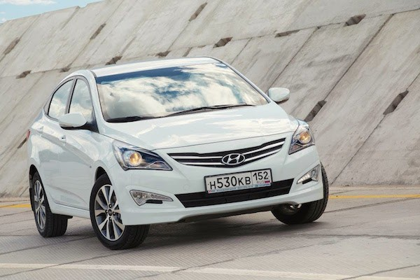 Hyundai Solaris Russia July 2015. Picture courtesy Youtube
