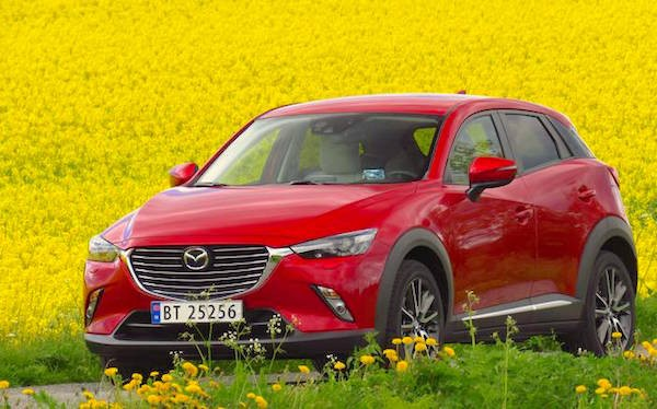 Mazda CX-3 Norway July 2015. Picture courtesy aftenposten.no