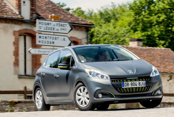 Peugeot 208 France July 2015. Picture courtesy largus.fr